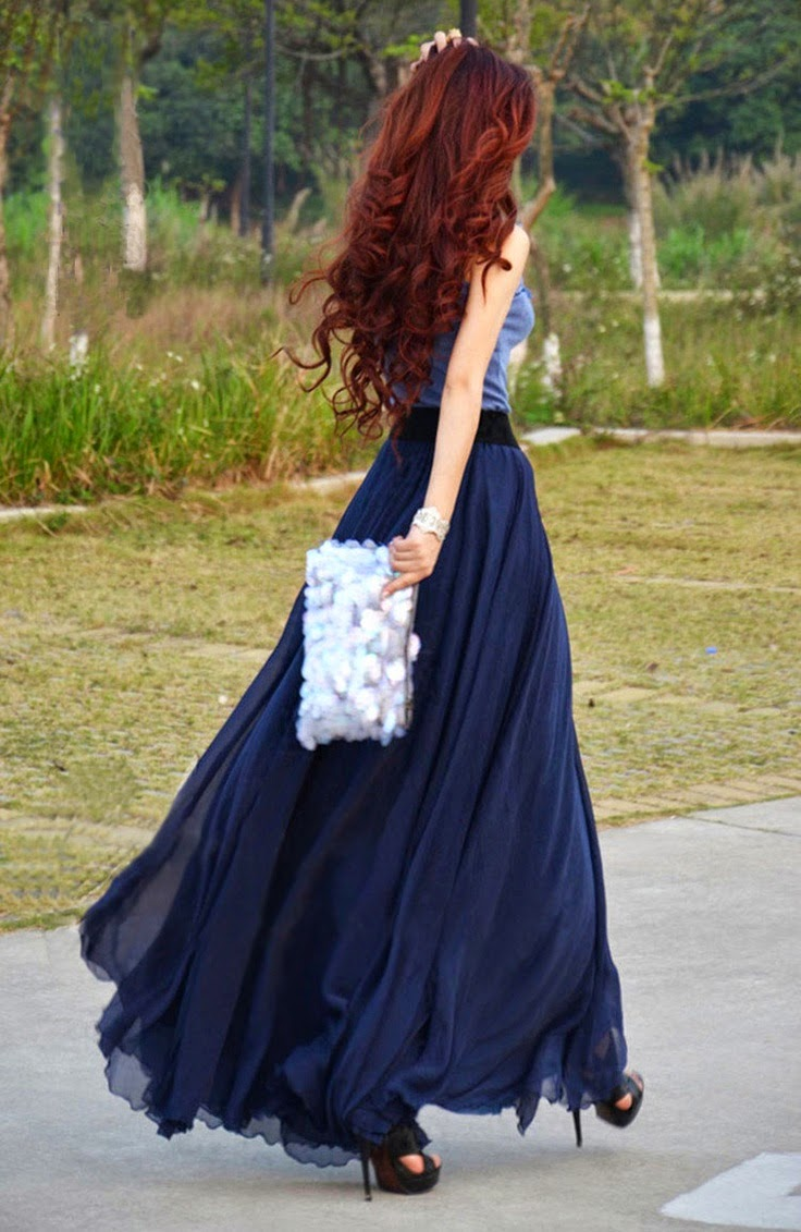 Long Skirt Maxi Dress