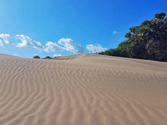 Hamparan gurun pasir yang indah di Pantai oetune Kupang