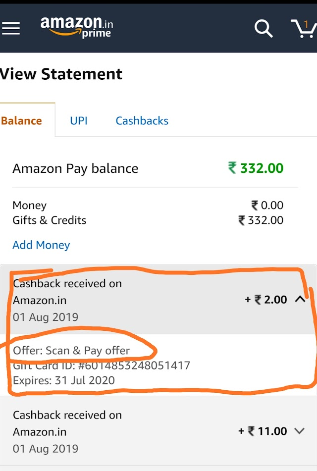 Amazon Scan and Pay Offer: Get Amazing Cashback Offer in Amazon