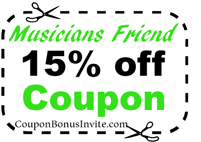 15% off Musicians Friend Coupon Code 2018 Jan, Feb, March, April, May, June, July