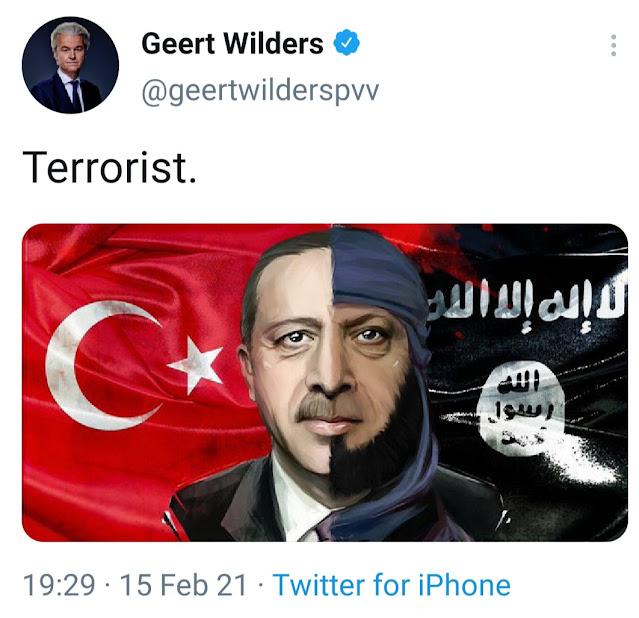 تركيا تعلن فتح تحقيق بحق السياسي الشعبوي الهولندي خيرت فيلدرز