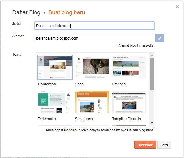 Cara Buat Blog Gratis Dalam Waktu Singkat