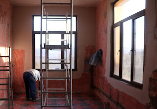 More plastering is done