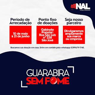 Vereador Nal inicia campanha de  arrecadação de alimentos para as famílias carentes de Guarabira