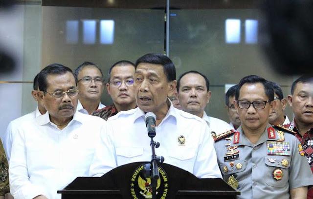 Wiranto Klaim Penegakan Hukum Baik, Kepercayaan Publik Kepada Pemerintah Tinggi