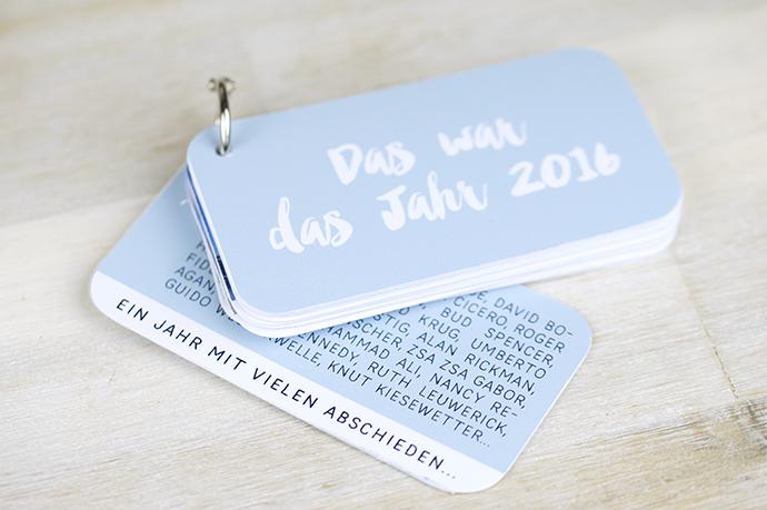DIY Jahresrückblick Büchlein | Das war das Jahr 2016 | Beispielseite