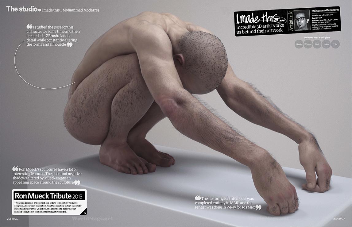 3d artist 56 ron mueck tribute piece mohammad modarres