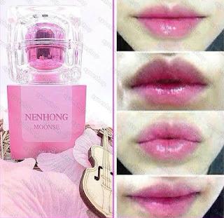 Hasil Pemakaian Nenhong Pemerah Bibir Original