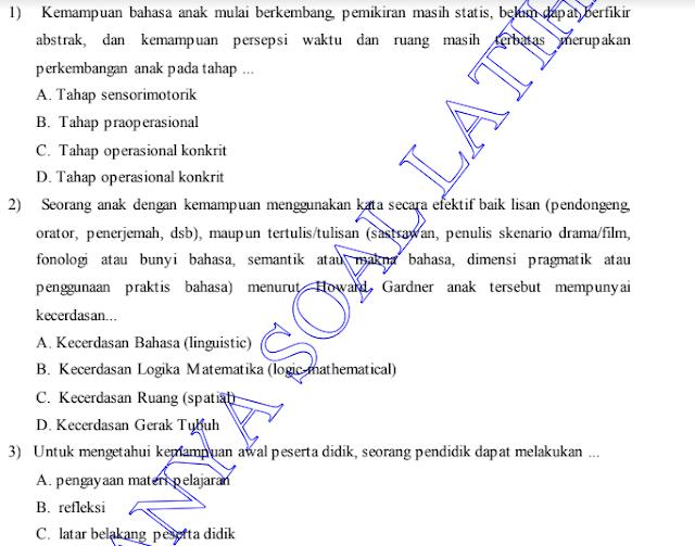 100+ Soal dan Kunci Jawaban  Ujian PPPK Guru Kelas SD  Tahun 2021