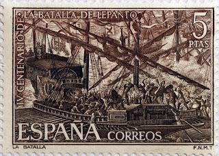 IV CENTENARIO DE LA BATALLA DE LEPANTO, LA BATALLA