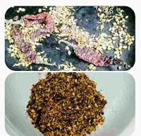 Roasting kadai masala and coarse powder