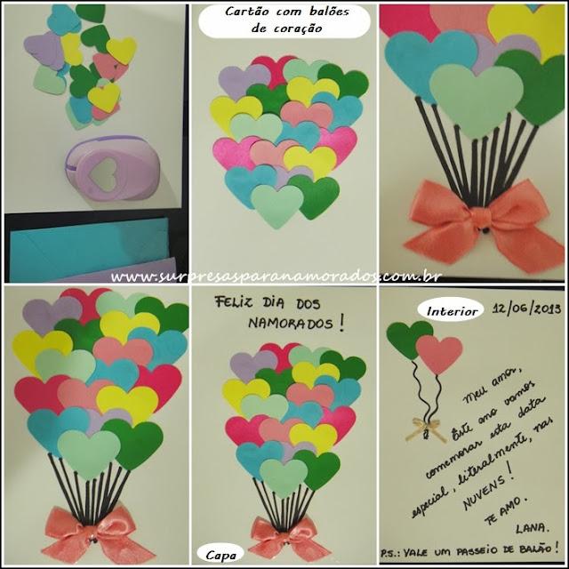cartão dia dos namorados heart card