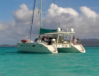 Sailing the Virgin Islands on Catamaran Delphine