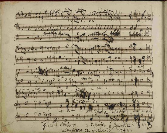 Messiah manuscript page