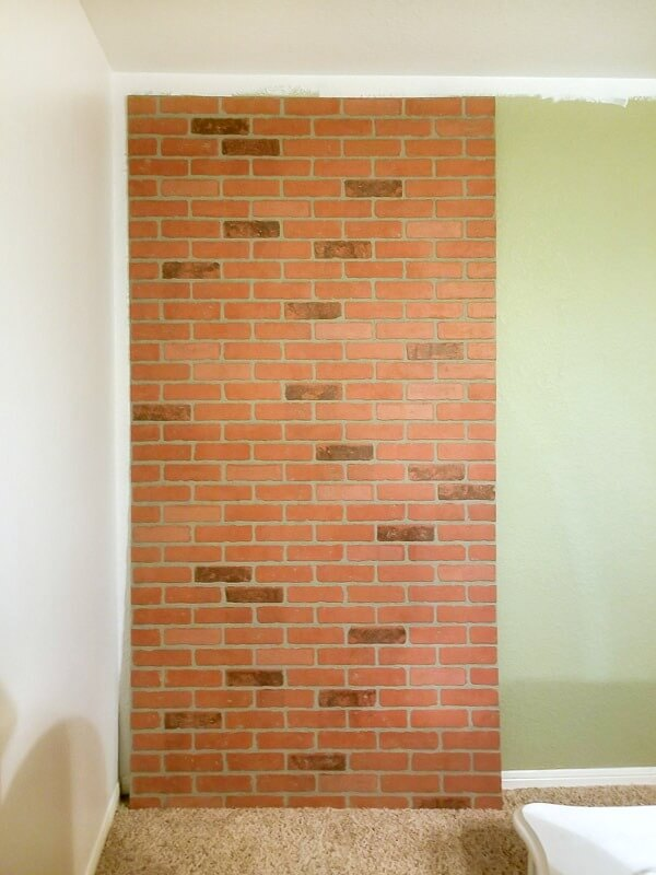 faux brick wall panel