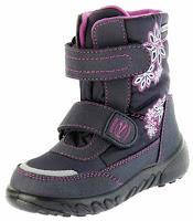 Richter Kinder Winter Boots Stiefel lila Warmfutter SympaTex Mädchen