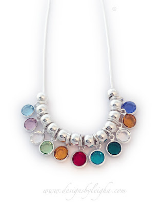 12 Birthstone Necklace on a Sterling Silver Chain