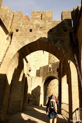 Tra la Porte Narbonnaise e la Porte de l'Aude di Carcassonne
