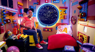 Astronaut Alex goes on a letter A adventure in space. Sesame Street Episode 4418 The Princess Story season 44