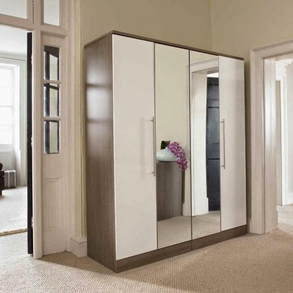Desaian lemari pakaian minimalis modern