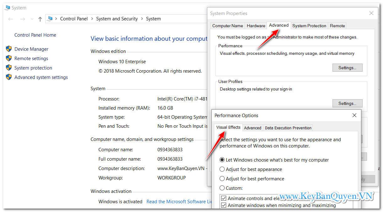 Tìm hiểu và thay đổi cài đặt hiệu ứng hình ảnh để tăng tốc máy tính trong Windows 10