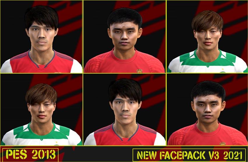 New Facepack V3 2021 For PES 2013