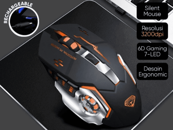 Gambar Mouse Wireless Divipard Q1 Gaming