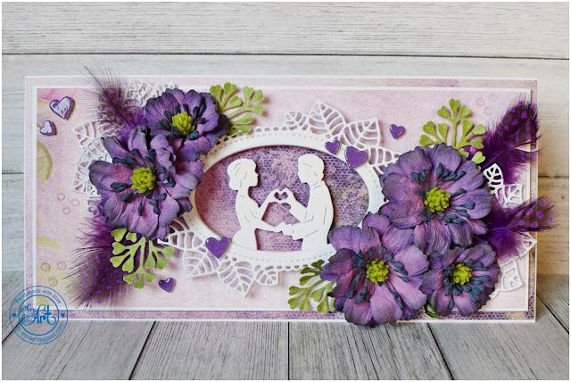 Ślubna ramka ze zdjęciem / Wedding frame with a photo – DT Craft Passion