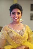 Actress Eesha in Yellow Choli Blue Ghagra at Darshakudu music launch 009.JPG