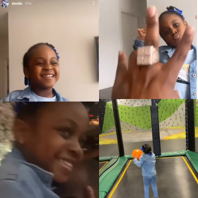 Watch the moments Davido hangs out with his second daughter, Hailey, in the US (Video)