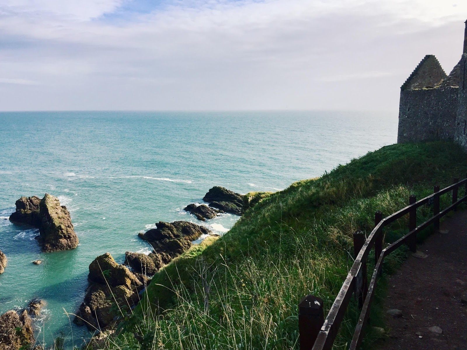 North Sea Coast at Dunnottar Castle