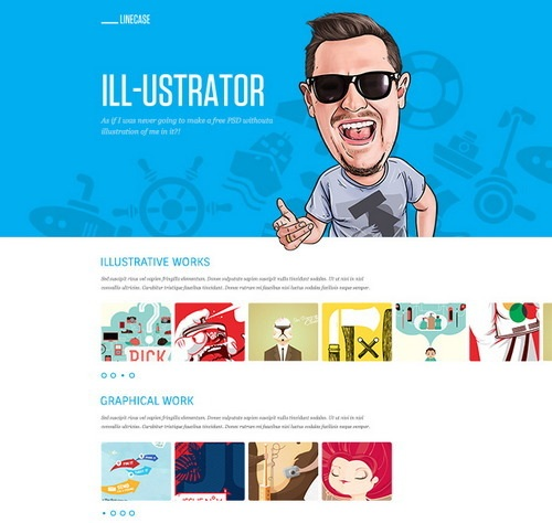 Clean Free PSD Website Design
