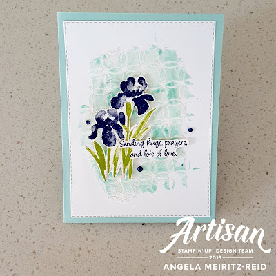Angela Meiritz-Reid's embossing paste card that I CAS(e)d | Nature's INKspirations by Angie McKenzie