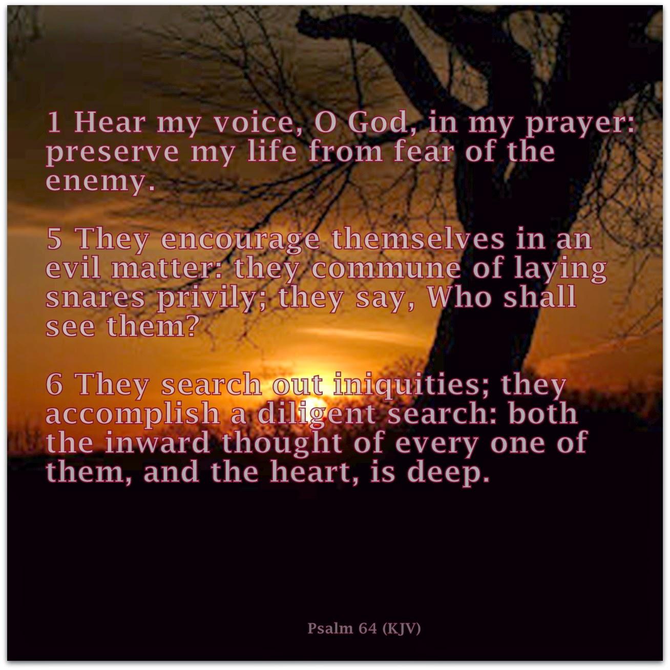 Red Pill Diaries: Psalm 64 (KJV)