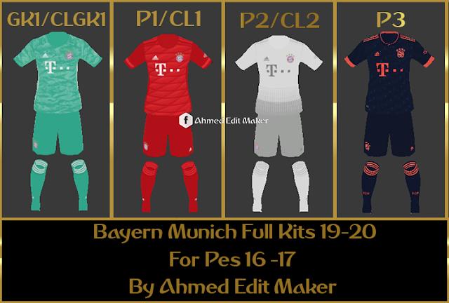PES 17 Bayern Munich Full Kits Season 19-20 By Ahmed EditMaker