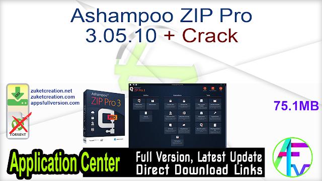 Ashampoo ZIP Pro 3.05.10 + Crack