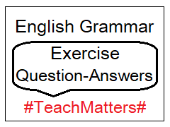image : English Grammar Exercise - Parts of Speech @ TeachMatters