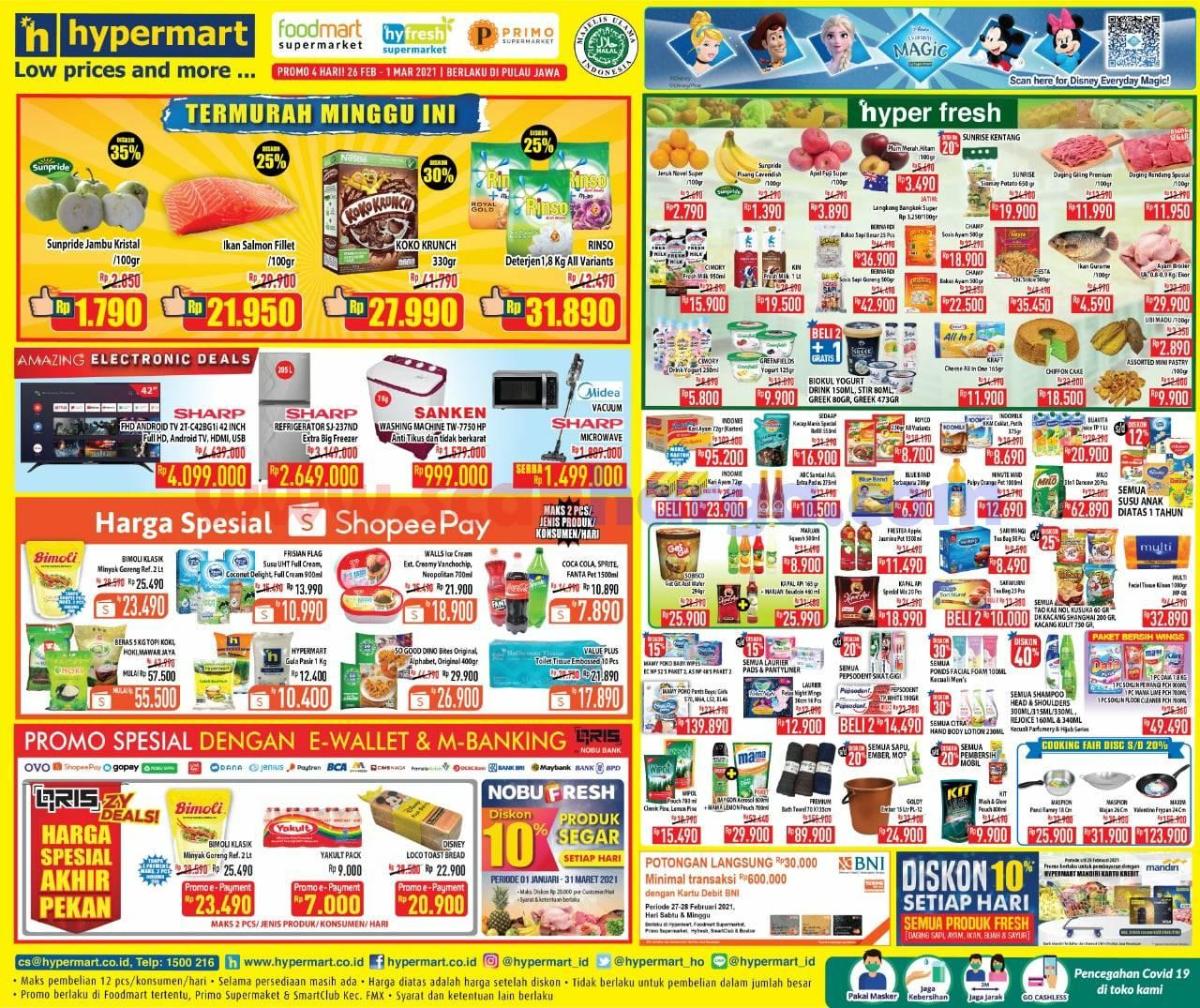 Katalog Promo Hypermart Weekend 26 Februari - 1 Maret 2021