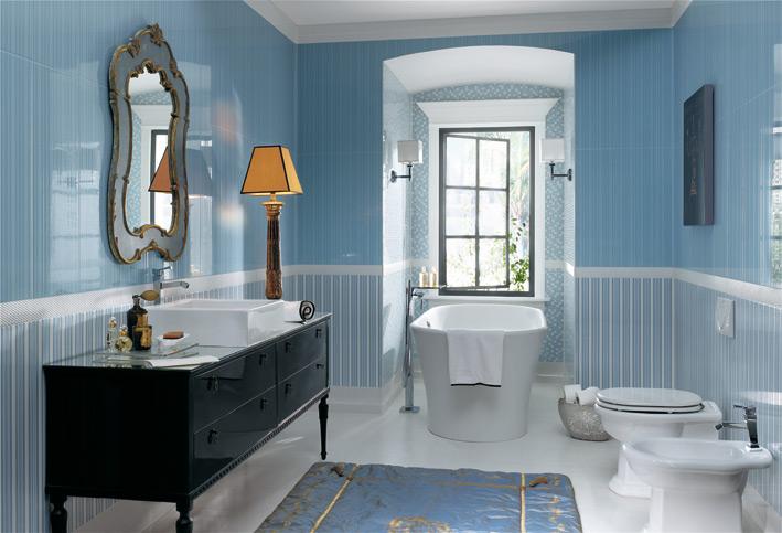 Fotos de ba os en azul ideas para decorar dise ar y for Decoracion de banos modernos economicos