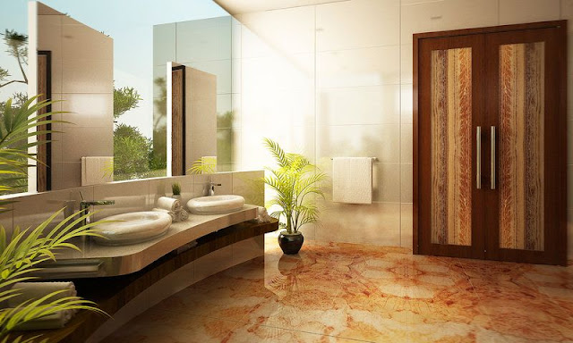 Bathroom With Bathtub And Shower Design