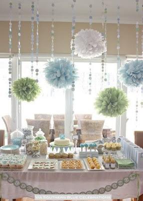 idéias simples para decorar chá de bebê