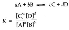 Equilibrium constant for equilibrium class 11 notes