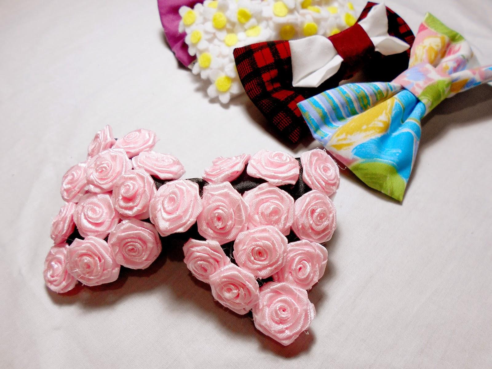 DIY hair bows - rose bow