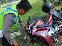 Lawan Arus.Pengendara Motor Tewas Ditabrak Mobil Di Bogor