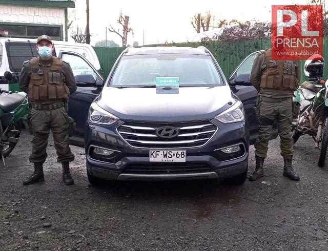 Recuperan vehículo robado en Santiago