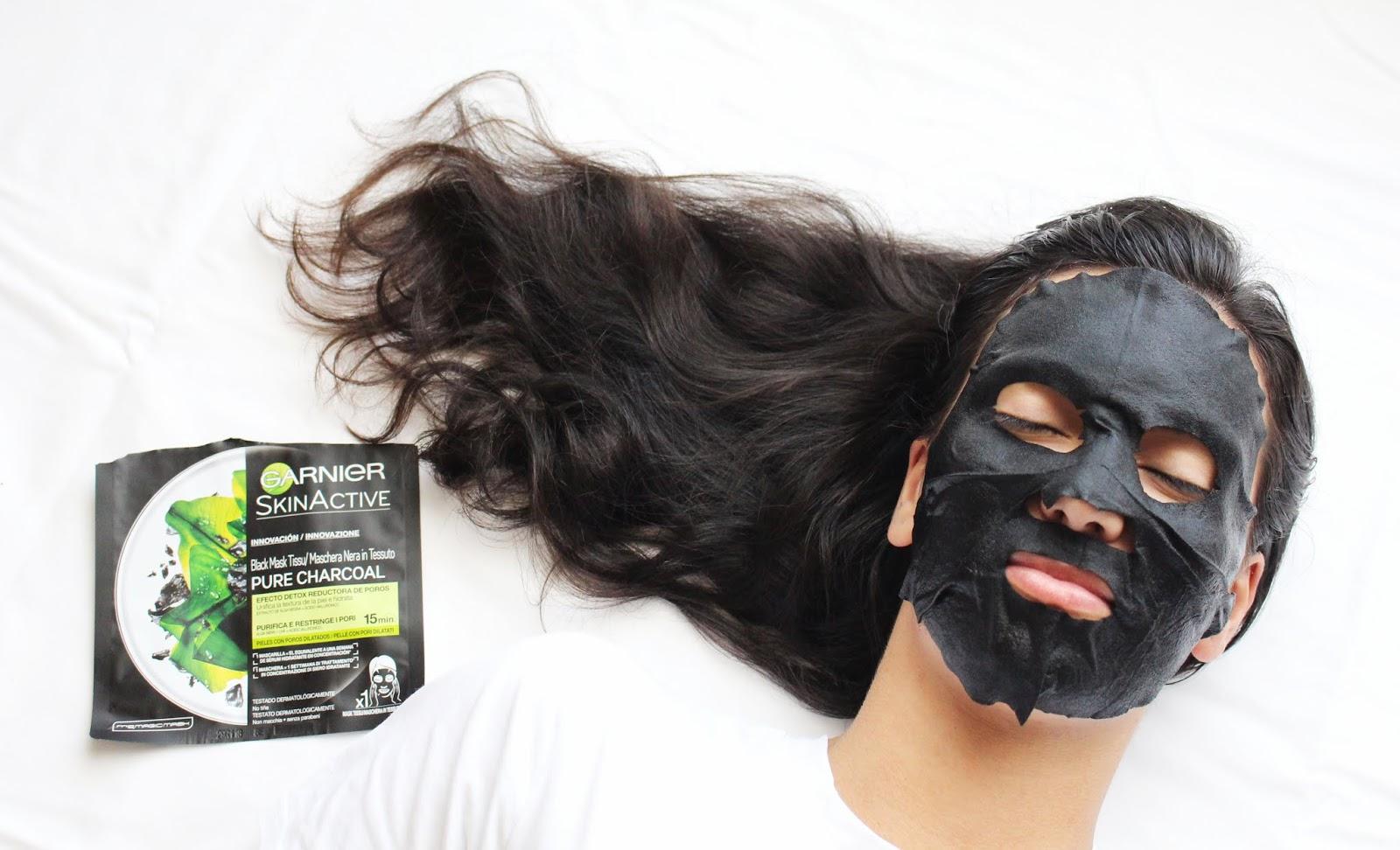 Melhor máscara de tecido de carvão para peles oleosas!