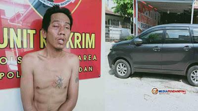 Polsek Medan Area Gerak Cepat Amankan Pria Pelaku Pencurian Mobil di Parkiran Masjid Denai