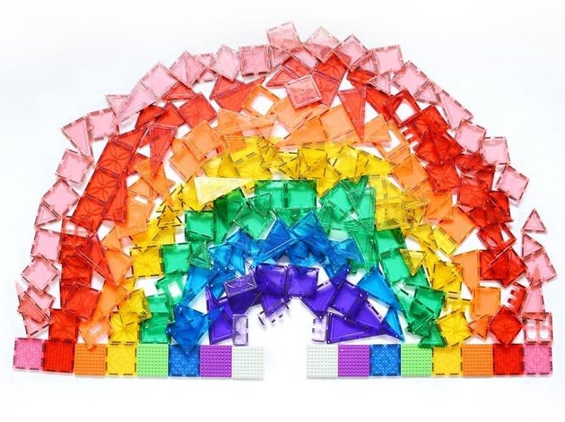 magblox magnetic tiles rainbow