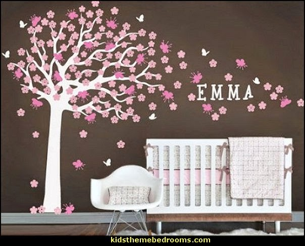 Decorating theme bedrooms maries manor tree murals for Cherry blossom bedroom ideas