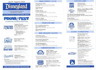 Disneyland Times Guide July 2018